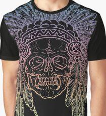 Skull Headdress Graphic T-Shirt