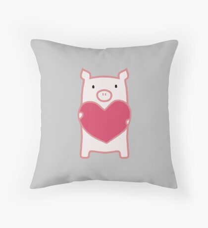 Pig Love Throw Pillow