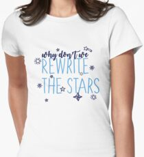 Rewrite the Stars-Greatest Showman Women's Fitted T-Shirt