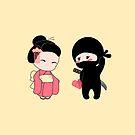 Kleiner Ninja und Geisha von Natalia Linnik