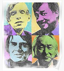 Fab Four Physicists (Faded) Poster