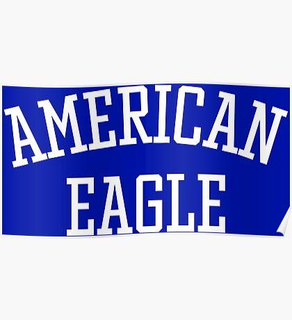 American Eagle (White) Poster