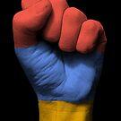 Flagge von Armenien auf einer angehobenen geballten Faust von jeff bartels