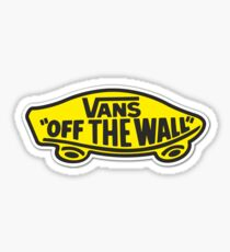 Vans Black & Yellow Logo  Sticker