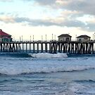 Huntington Beach Pier  by OceanPeaceful