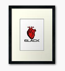 Love/Heart 6LACK Framed Print
