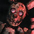 'Warning' Springtrap painting by primalarc