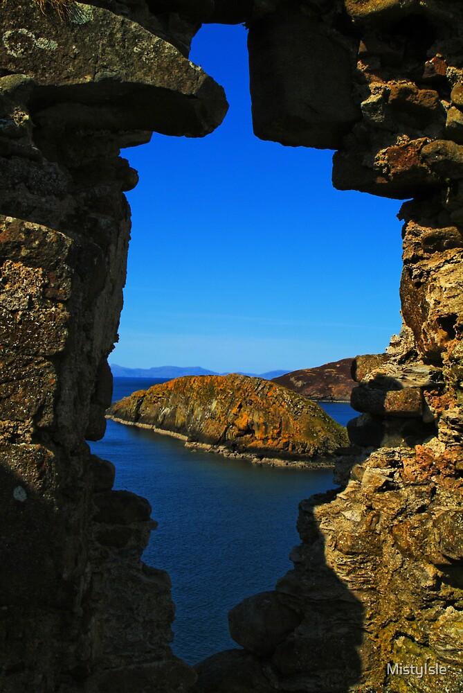 Duntulim Castle looking seawards by MistyIsle