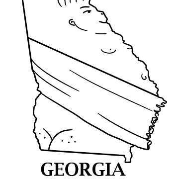 A funny map of Gerogia by funnymaps