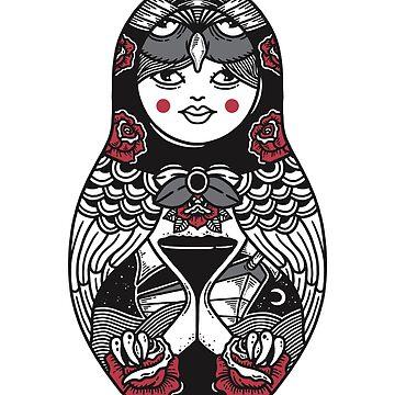 Owl Matryoshka by merupa