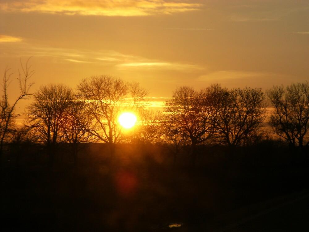 beautiful sunset by zakpearce