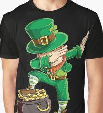 Dabbing Leprechaun T-shirt Funny Dab St Patricks Day Gifts Graphic T-Shirt