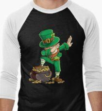 Dabbing Leprechaun T-shirt Funny Dab St Patricks Day Gifts Men's Baseball ¾ T-Shirt
