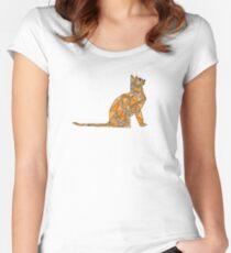 Orange Cat Women's Fitted Scoop T-Shirt
