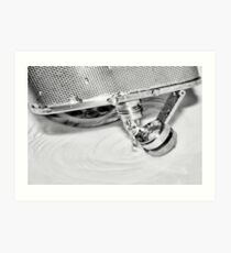 Emptying the flask Art Print