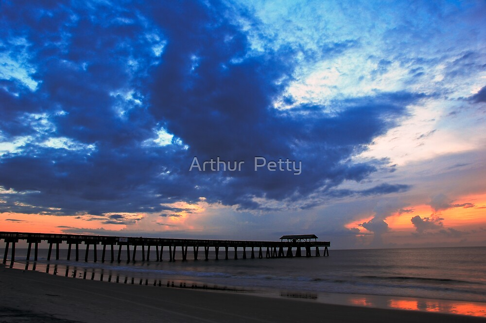 """Rushing At The Pier by Arthur """"Butch"""" Petty"""