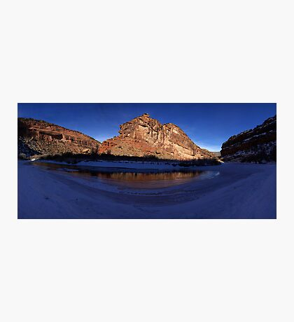Unaweep Canyon, Frozen Dolores River Photographic Print