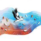 Rainbow Pelican by Karin Taylor