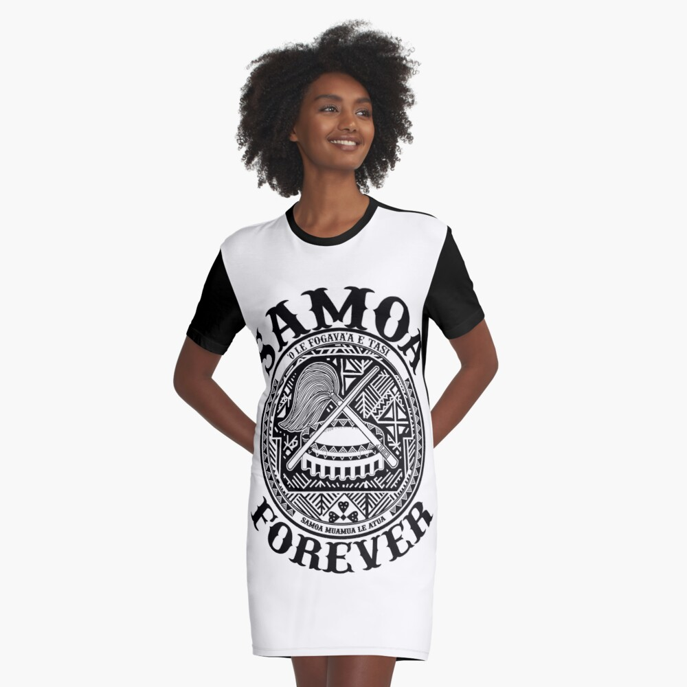 Samoa Forever Crest Seal Design Graphic T Shirt Dress By