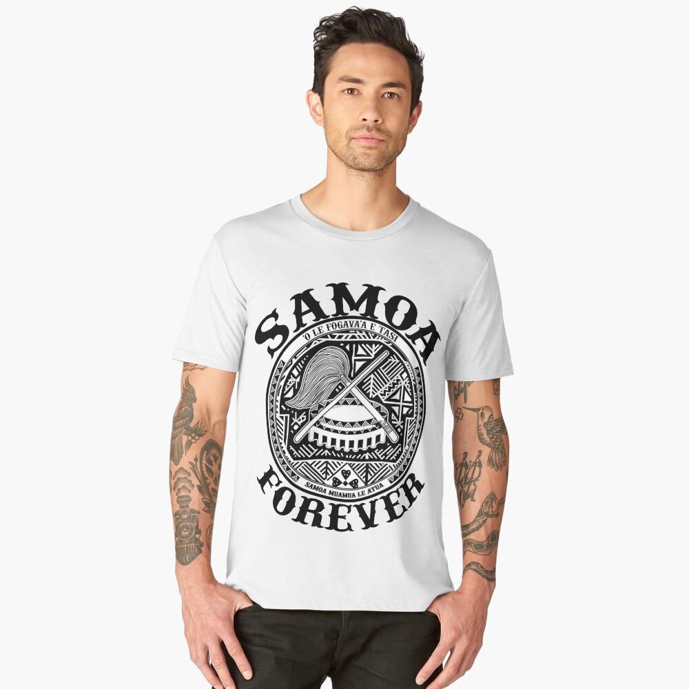 Samoa Forever Crest Seal Design Mens Premium T Shirt By