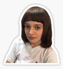 noah schnapp meme - mental breakdown bangs haircut at 2am - stranger things Sticker