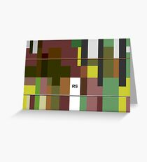 No Men's Land Composition Nr. 472 Greeting Card