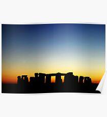 Stonehenge in sunset Poster