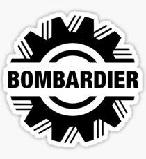 bombardier logo in black Sticker