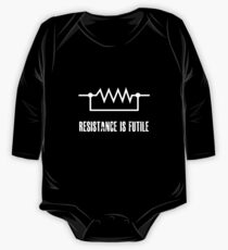 Resistance is futile - White foreground One Piece - Long Sleeve