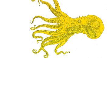 Yellow Octopus Under the Sea by RainyAZ