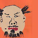 « Portrait inspiré de Ai Weiwei - Martin Boisvert - Faces à flaques » par Martin Boisvert