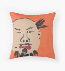Portrait inspiré de Ai Weiwei - Martin Boisvert - Faces à flaques Throw Pillow
