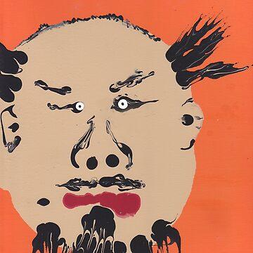 «Portrait inspiré de Ai Weiwei - Martin Boisvert - Faces à flaques» par martinb1962