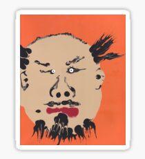 Portrait inspiré de Ai Weiwei - Martin Boisvert - Faces à flaques Sticker