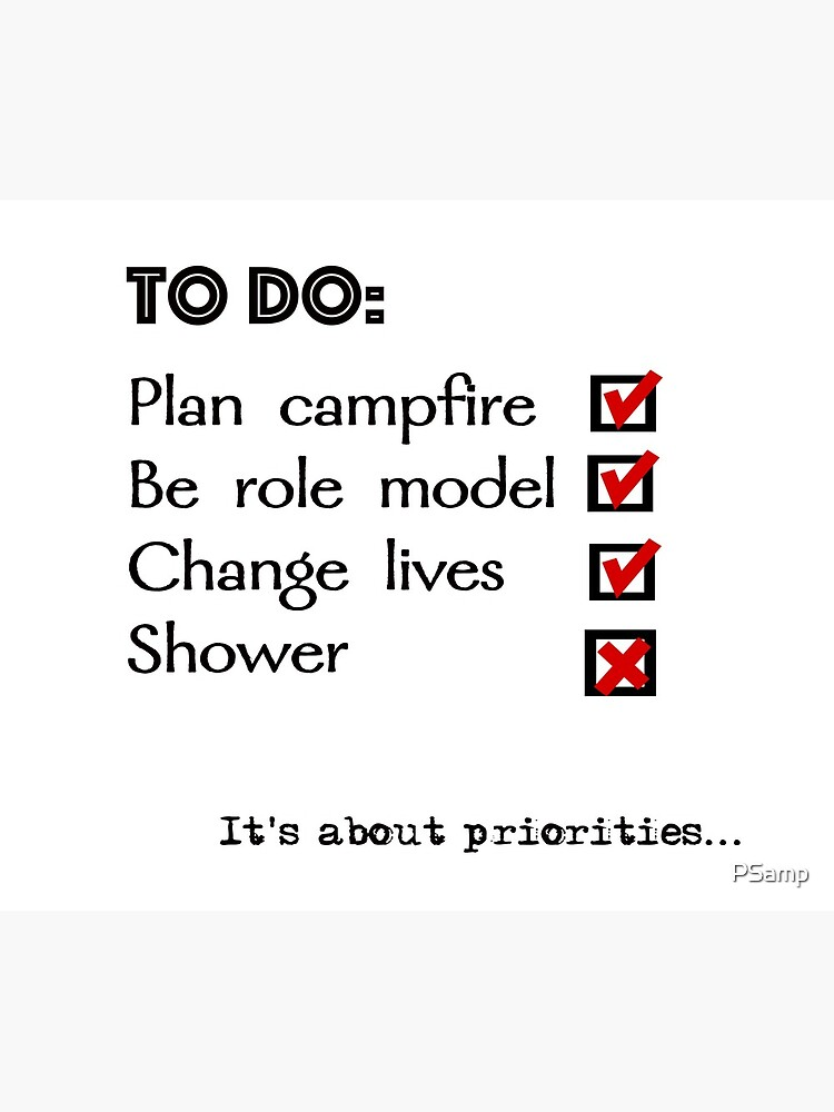 Camp counsellor to do list by PSamp