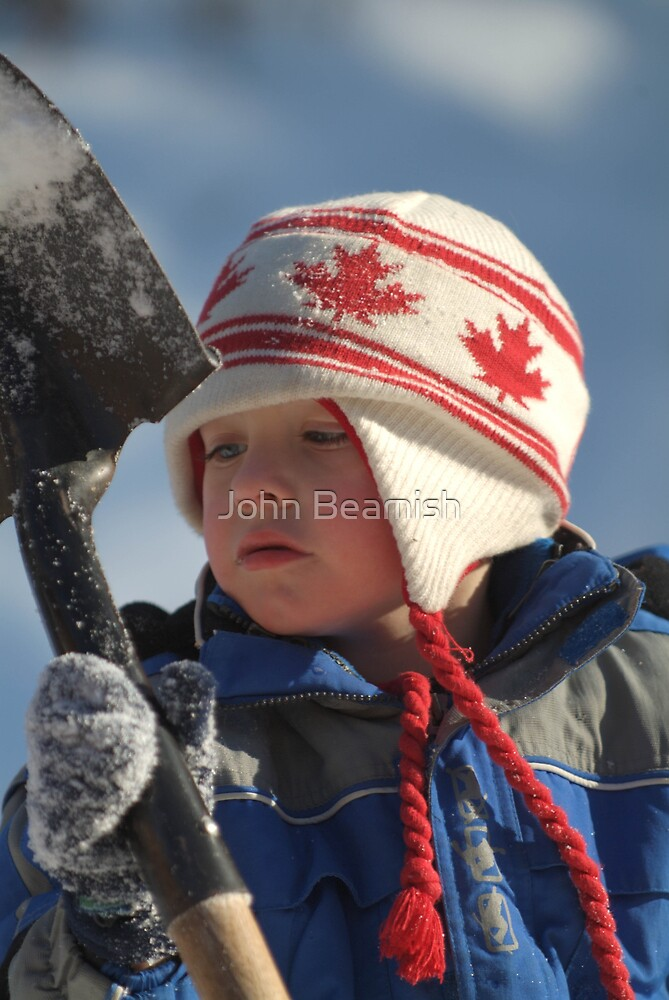 Be one with the shovel Andrew and clean Grandad's driveway. by John Beamish