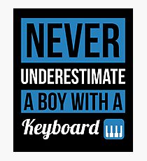 Never Underestimate A Boy With A Keyboard Photographic Print