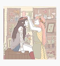 Bubbline Florist/Tattoo Artist AU Photographic Print