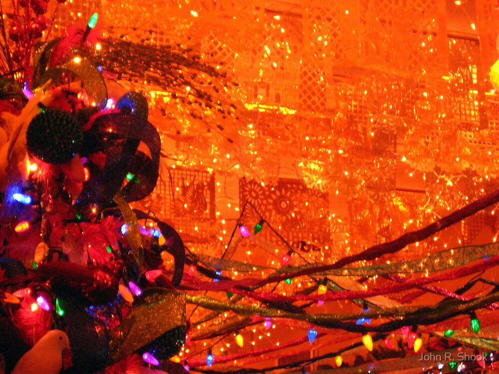 abstract - christmas whimsy by John R. Shook