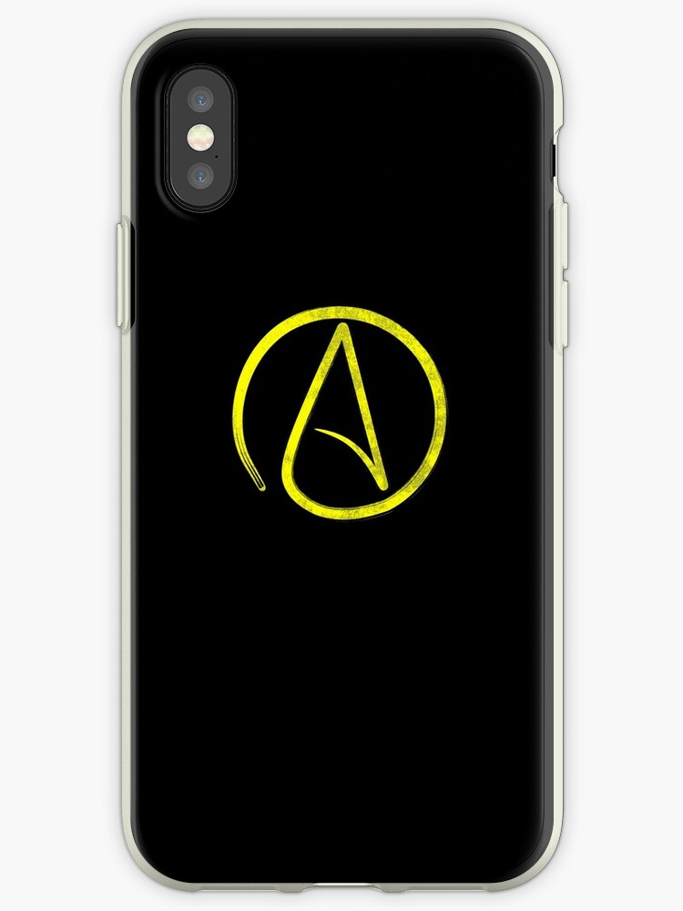 Atheism Sign Yellow by BlueBerry-Pengu