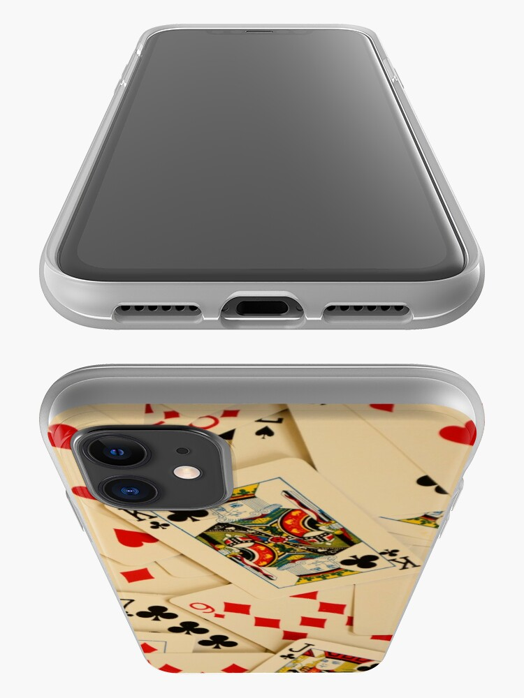 Alternate view of Scattered Pack of Playing Cards Hearts Clubs Diamonds Spades Pattern iPhone Case & Cover
