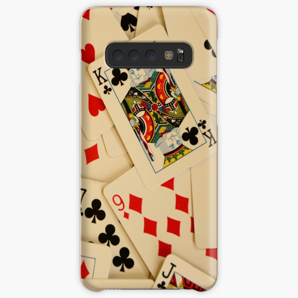 Scattered Pack of Playing Cards Hearts Clubs Diamonds Spades Pattern Case & Skin for Samsung Galaxy