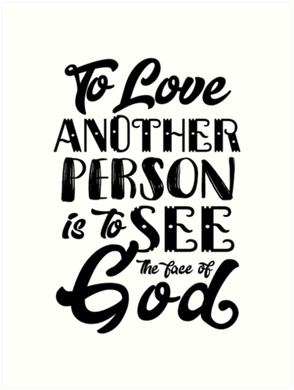 see god the another is love of to To face
