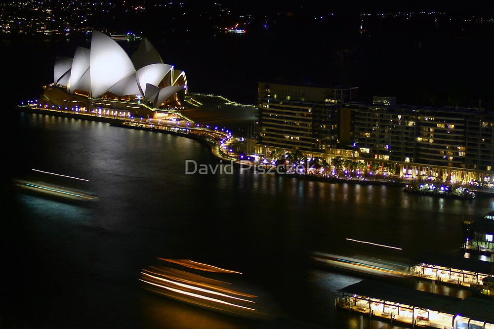 Night Lights At Sydney by David Piszczek
