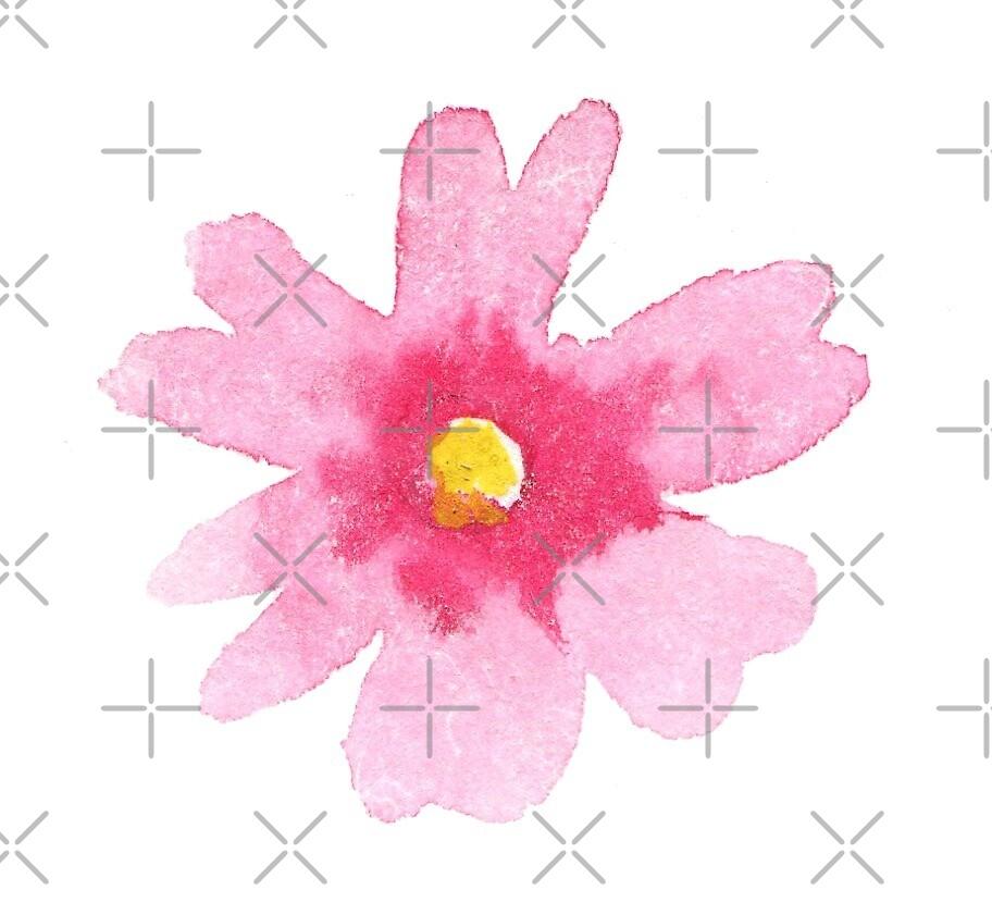Kawaii girly pink flower by natakuprova