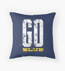 Used Go Blue Michigan Throw Pillow