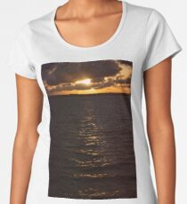Moreton bay waters in the late afternoon. Women's Premium T-Shirt