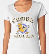 Camiseta premium de cuello ancho UC SANTA CRUZ BANANA SLUGS de Pulp Fiction