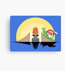 Funny Snail Stunt Fire Gift for Kids - Women or Men Canvas Print