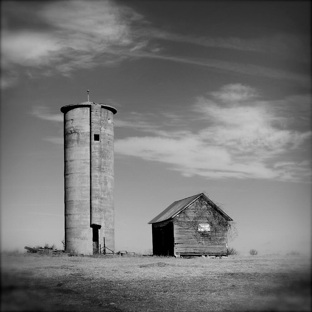 Old Farm Black & White by Robert Baker